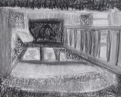 Klim tekening, 2000, Conté op papier